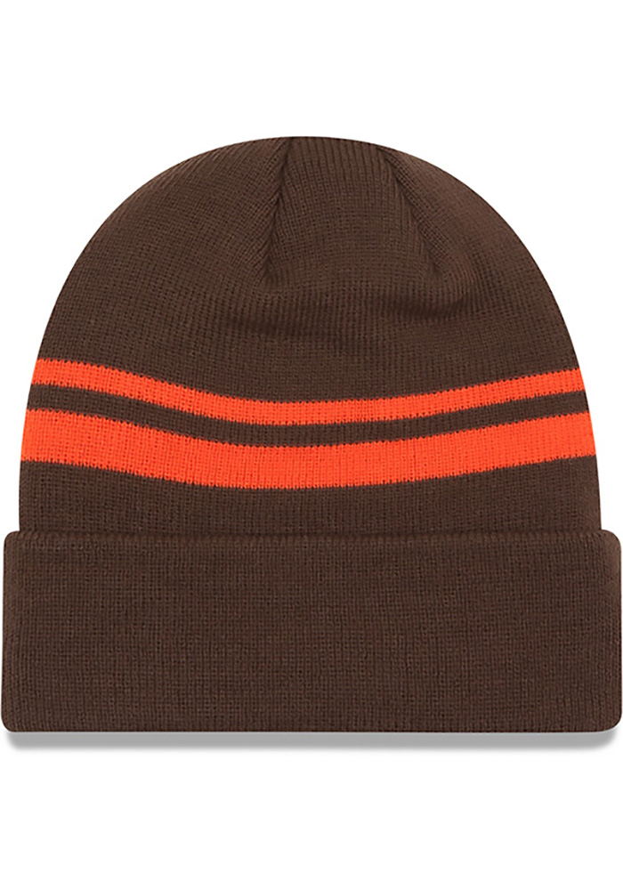 New Era Cleveland Browns Brown Cuff Mens Knit Hat - Image 2