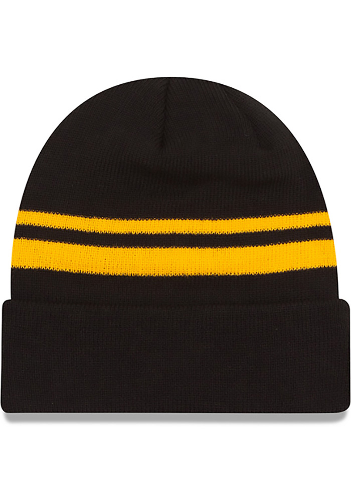 New Era Pittsburgh Steelers Black Cuff Mens Knit Hat - Image 2