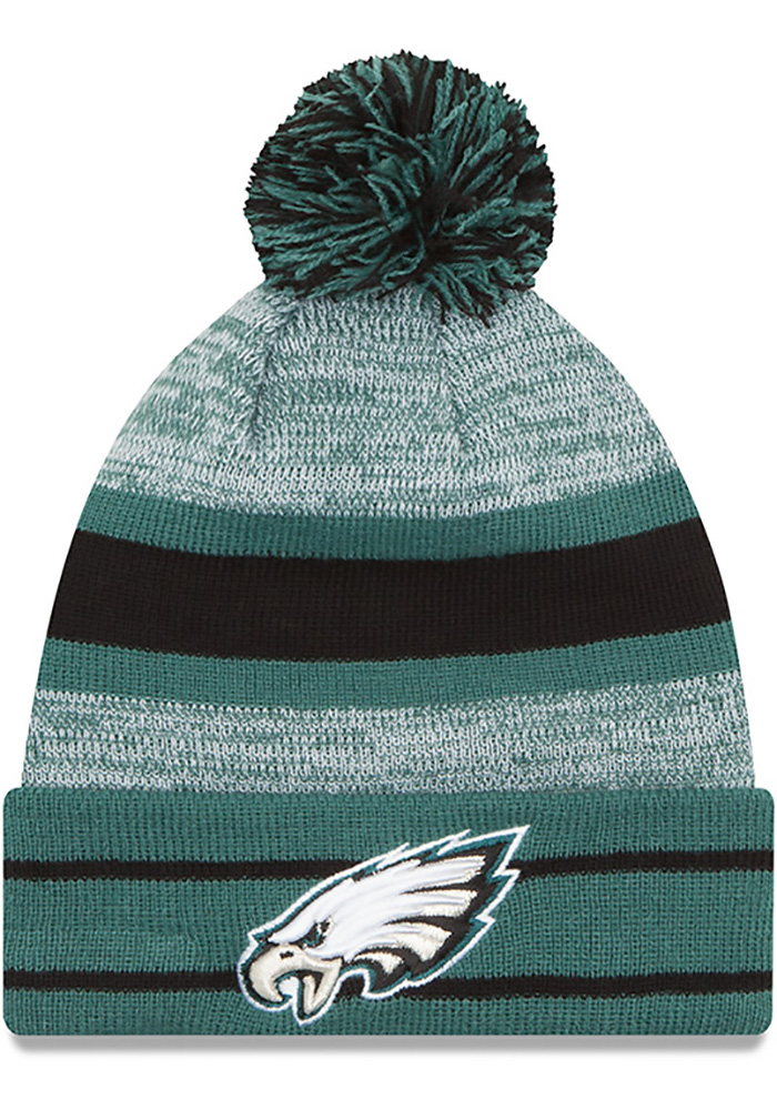 ... uk new era philadelphia eagles midnight green cuff pom mens knit hat  image 1 9340c 9d5c6 49e3ece1ed5