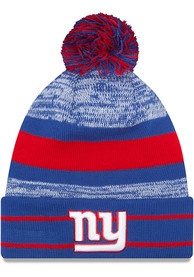 New Era New York Giants Blue Cuff Pom Knit Hat