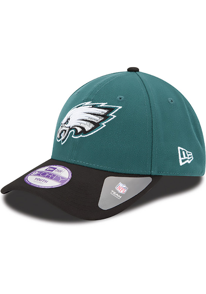 Philadelphia Eagles Midnight Green Jr The League 9FORTY Youth Adjustable Hat - Image 1