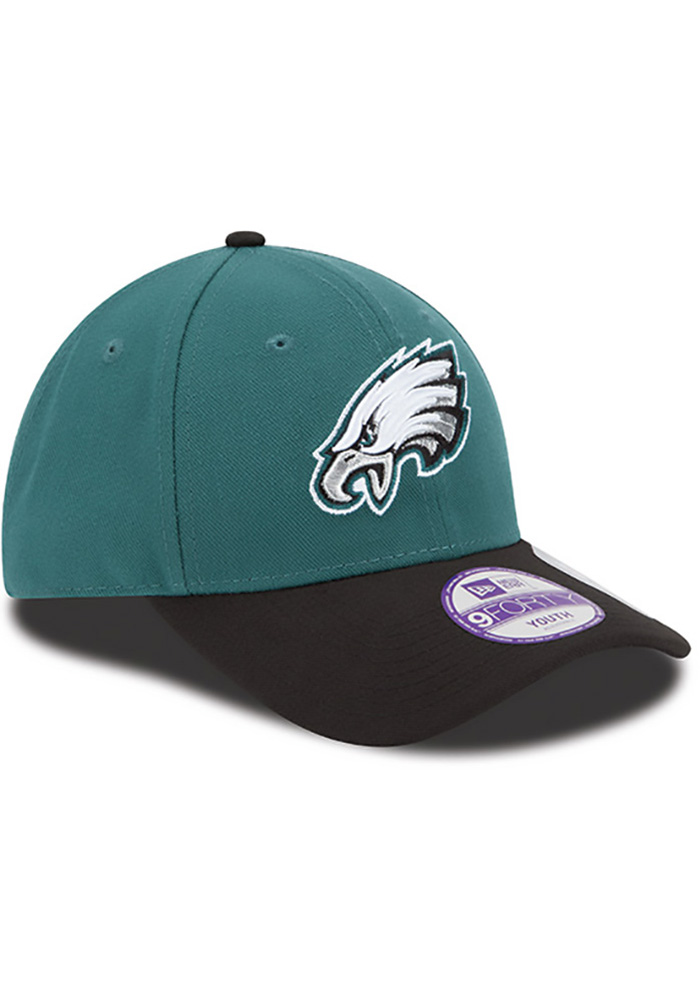 Philadelphia Eagles Midnight Green Jr The League 9FORTY Youth Adjustable Hat - Image 2
