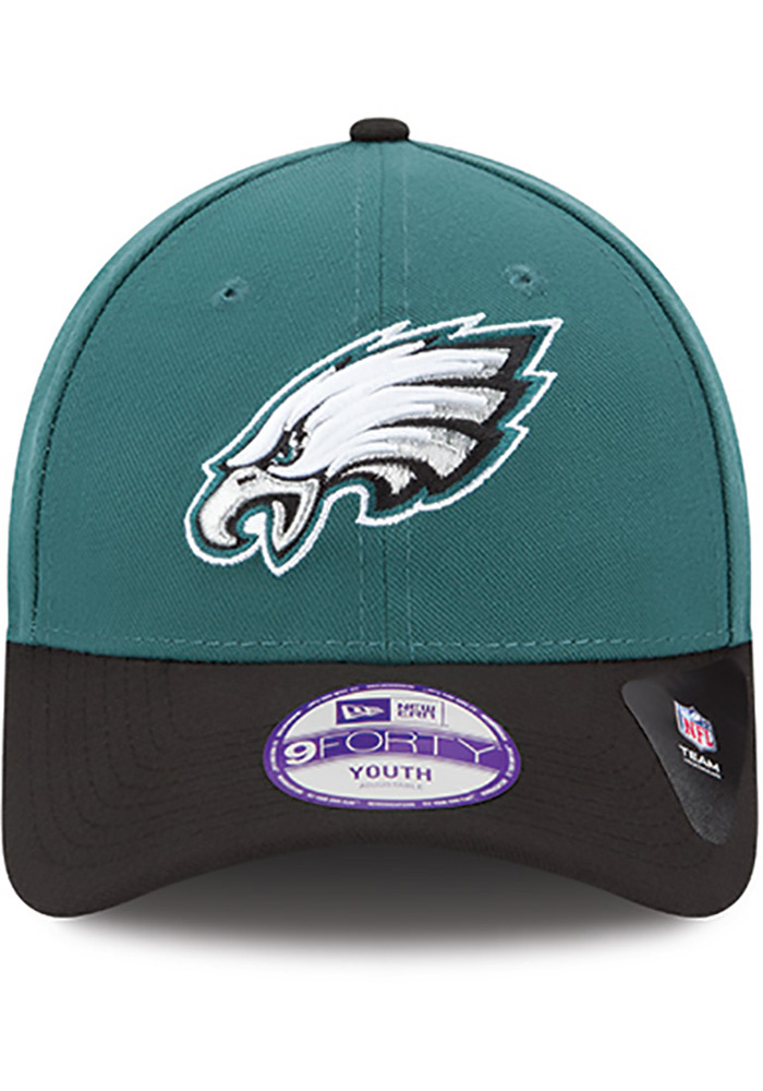 Philadelphia Eagles Midnight Green Jr The League 9FORTY Youth Adjustable Hat - Image 3