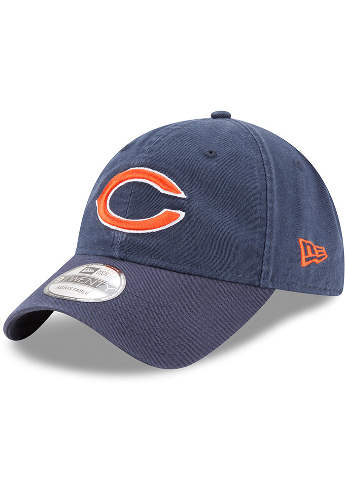 New Era Chicago Bears Core Classic 9TWENTY Adjustable Hat - Navy Blue