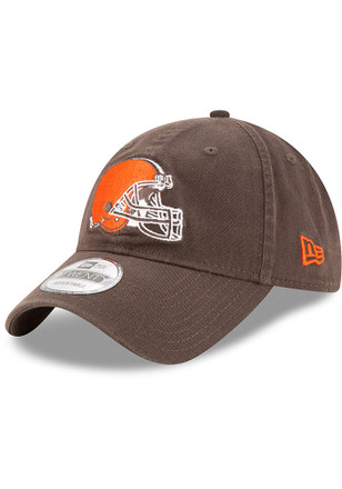 New Era Cleveland Browns Mens Brown Core Classic 9TWENTY Adjustable Hat