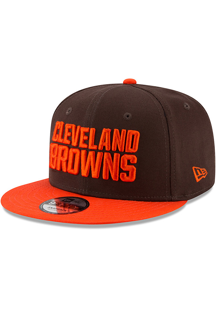 New Era Cleveland Browns Brown Baycik 9FIFTY Mens Snapback Hat - Image 1
