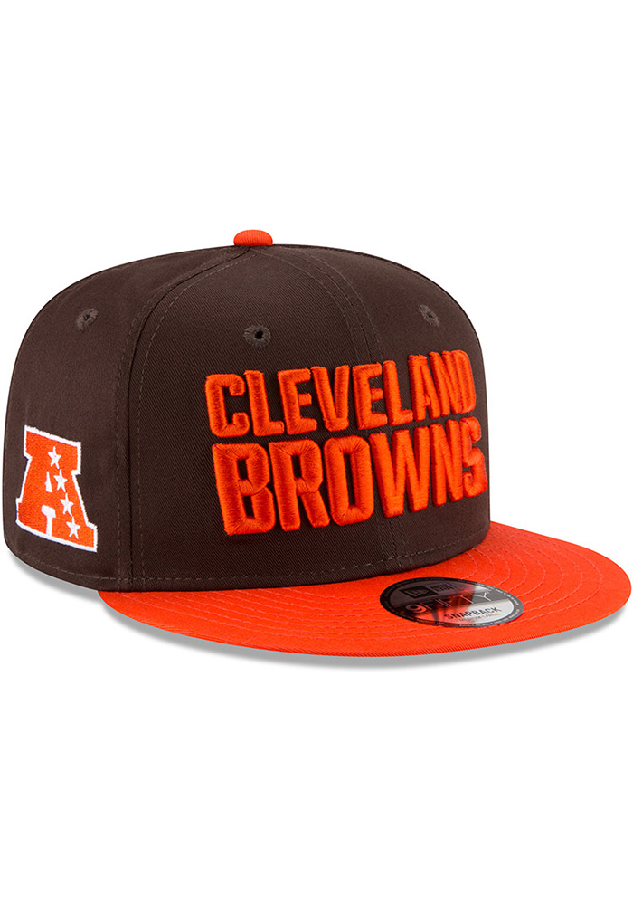 New Era Cleveland Browns Brown Baycik 9FIFTY Mens Snapback Hat - Image 2