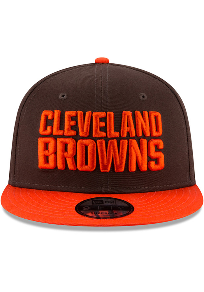 New Era Cleveland Browns Brown Baycik 9FIFTY Mens Snapback Hat - Image 3