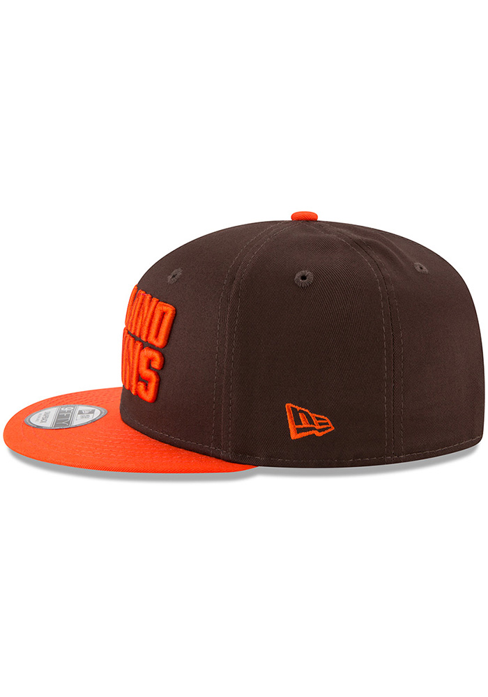 New Era Cleveland Browns Brown Baycik 9FIFTY Mens Snapback Hat - Image 4