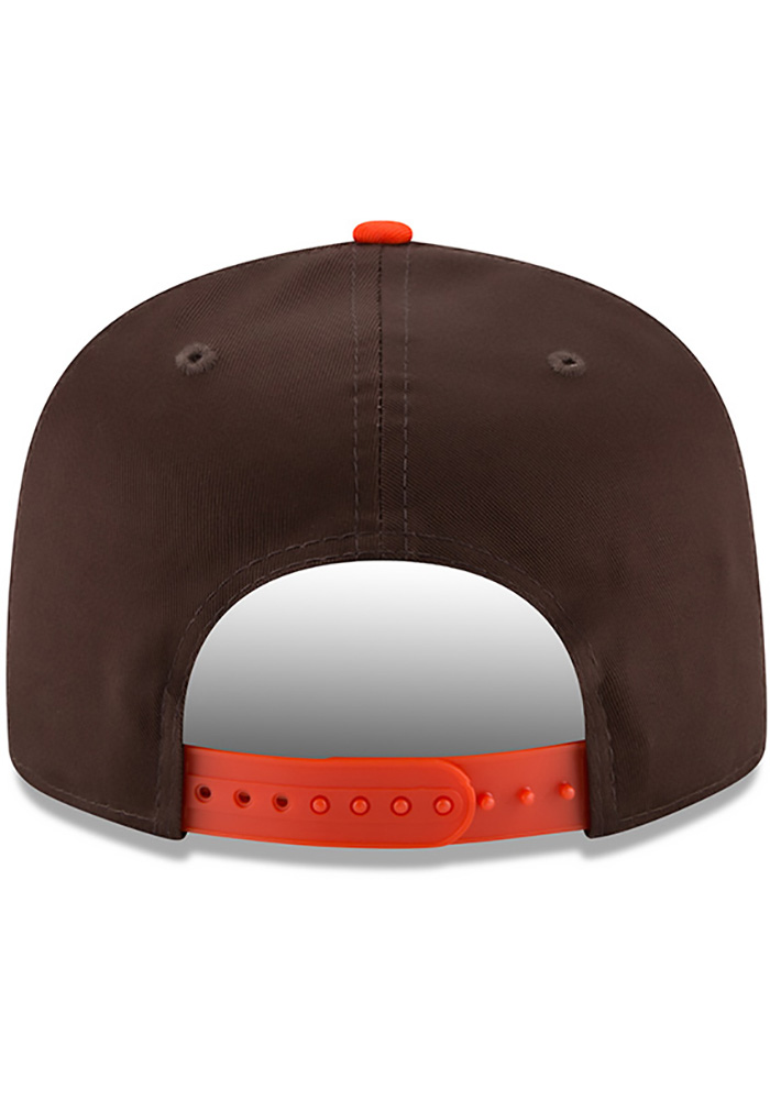 New Era Cleveland Browns Brown Baycik 9FIFTY Mens Snapback Hat - Image 5