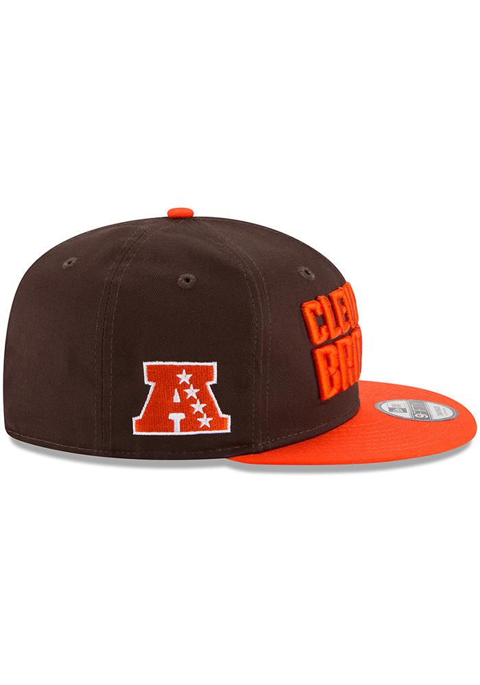 New Era Cleveland Browns Brown Baycik 9FIFTY Mens Snapback Hat - Image 6
