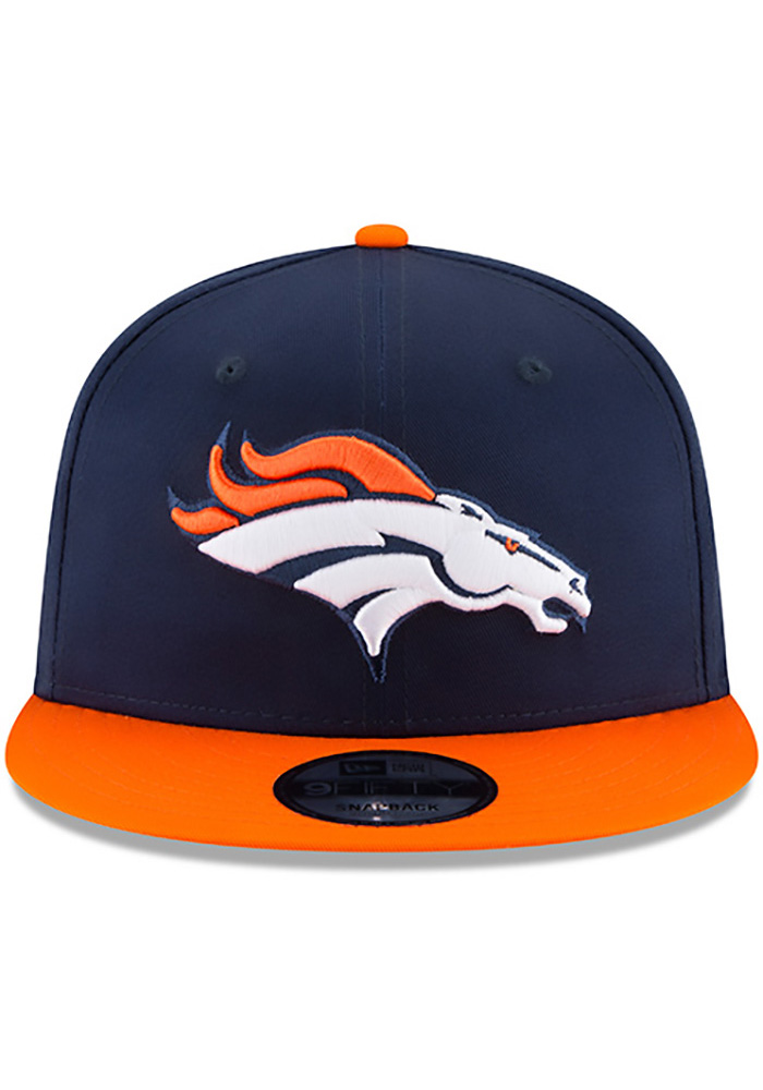 New Era Denver Broncos Navy Blue Baycik 9FIFTY Mens Snapback Hat - Image 3
