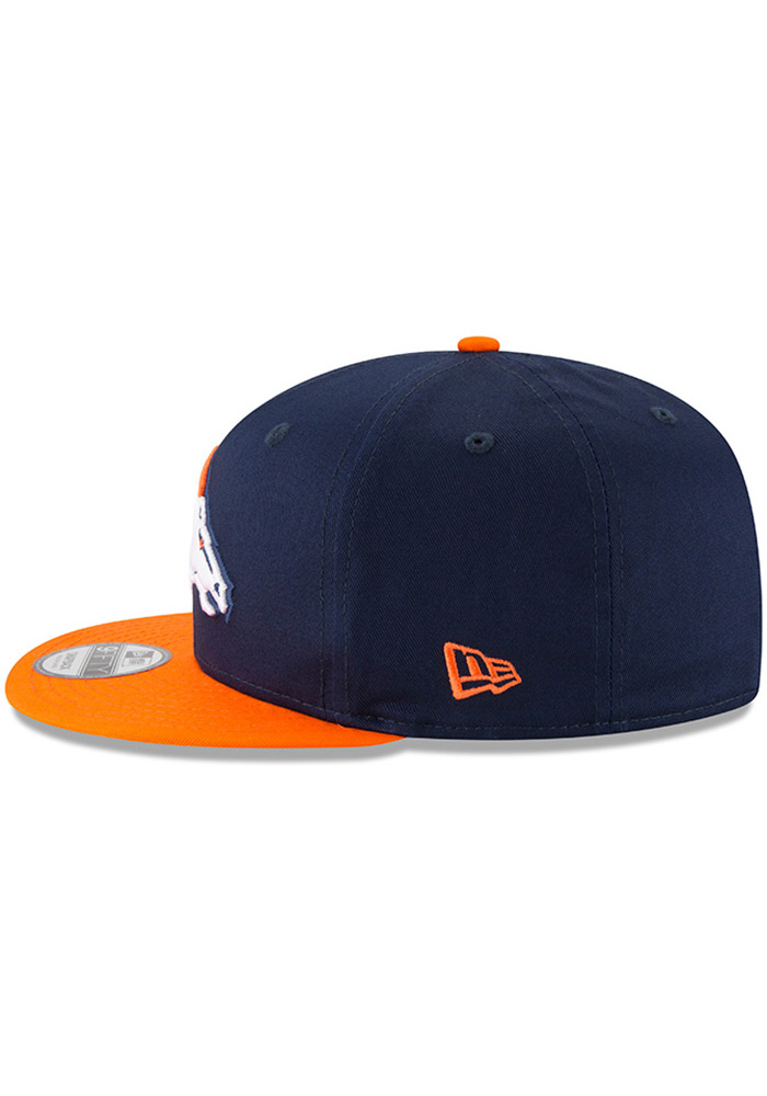 New Era Denver Broncos Navy Blue Baycik 9FIFTY Mens Snapback Hat - Image 4