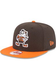 new products 01fe1 108bc New Era Cleveland Browns Brown Retro Baycik 9FIFTY Snapback Hat