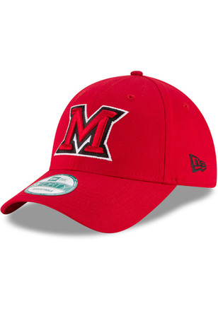 New Era Miami Redhawks Mens Red The League 9FORTY Adjustable Hat