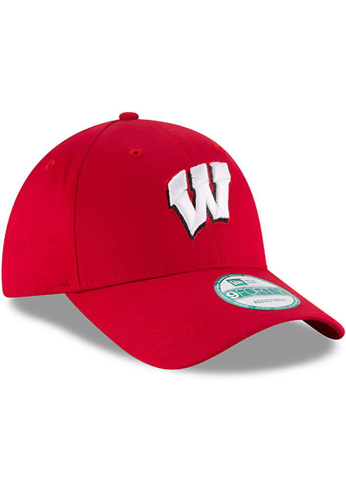 New Era Wisconsin Badgers Mens Red The League 9FORTY Adjustable Hat - Image 2
