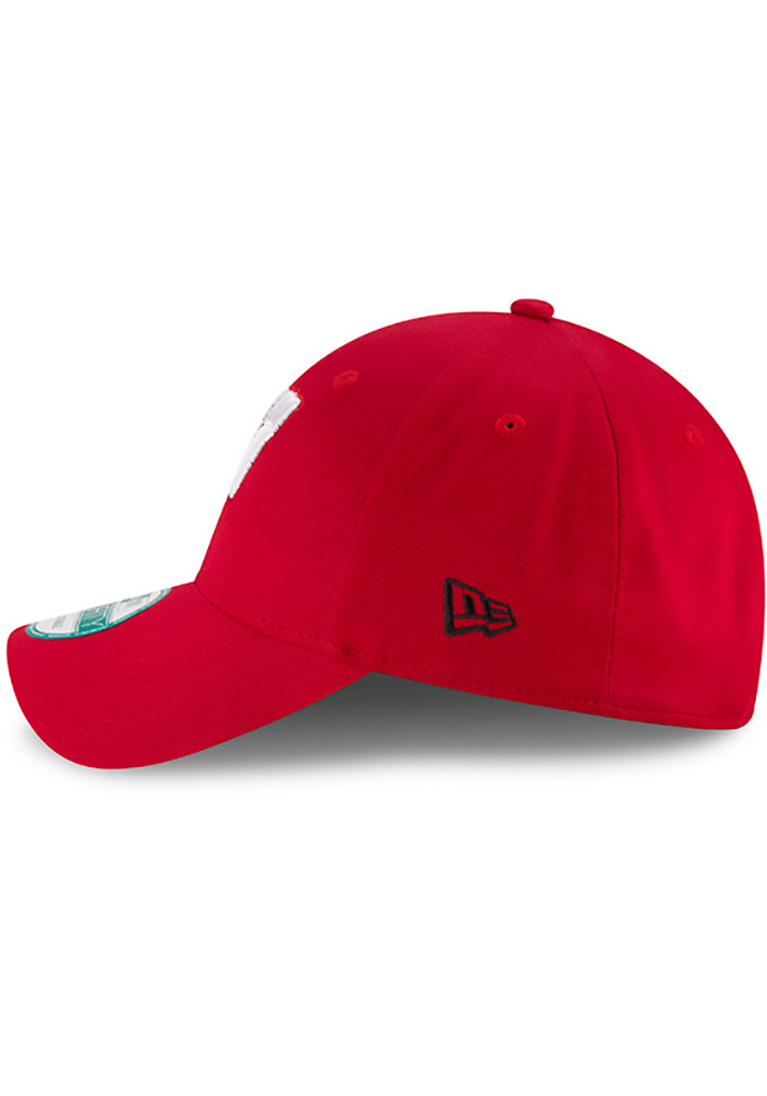 New Era Wisconsin Badgers Mens Red The League 9FORTY Adjustable Hat - Image 4