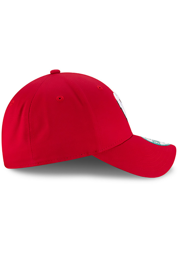New Era Wisconsin Badgers Mens Red The League 9FORTY Adjustable Hat - Image 6
