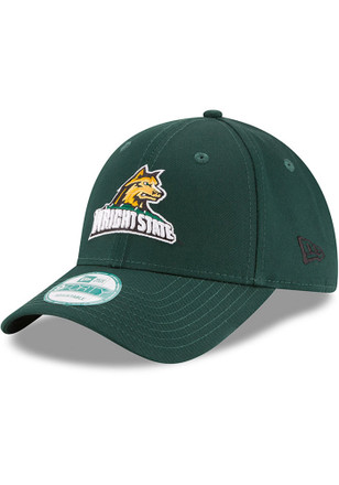 New Era Wright State Raiders Mens Green The League 9FORTY Adjustable Hat