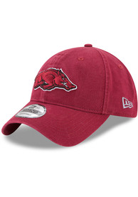 Arkansas Razorbacks New Era Core Classic 9TWENTY Adjustable Hat - Cardinal