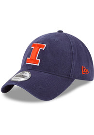 Illinois Fighting Illini New Era Core Classic 9TWENTY Adjustable Hat - Navy Blue