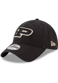 Purdue Boilermakers New Era Core Classic 9TWENTY Adjustable Hat - Black