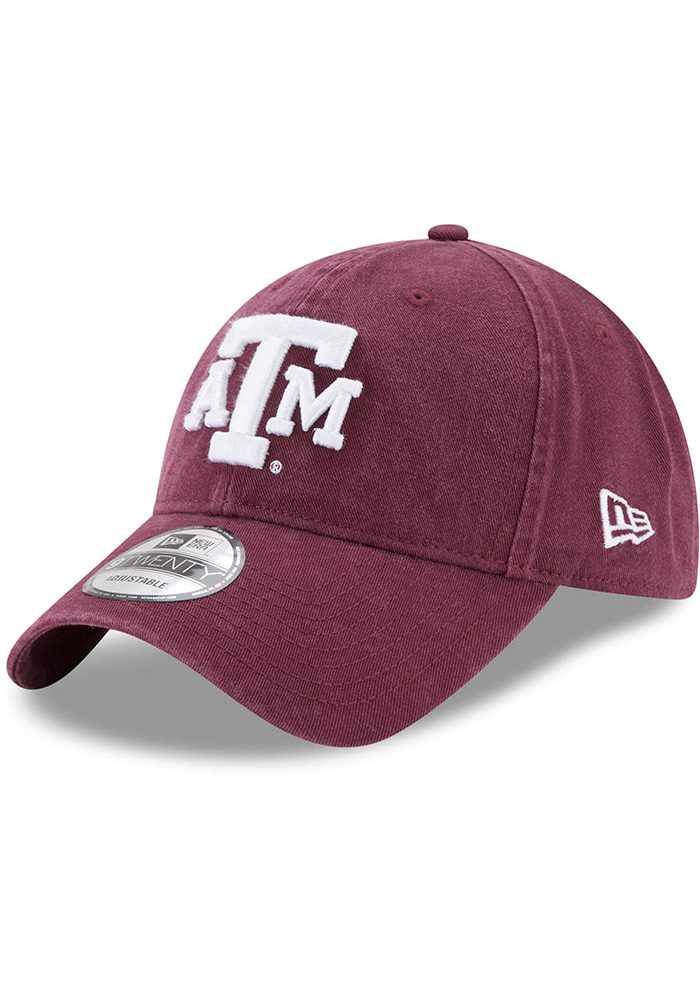 New Era Texas A&M Aggies Core Classic 9TWENTY Adjustable Hat - Maroon - Image 1