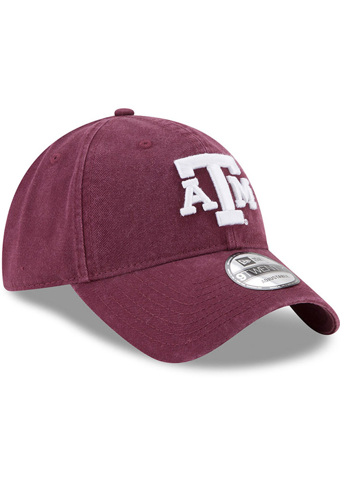 New Era Texas A&M Aggies Core Classic 9TWENTY Adjustable Hat - Maroon - Image 2