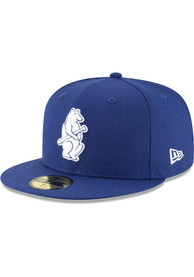 Chicago Cubs New Era Blue 1914 Cooperstown Wool 59FIFTY Fitted Hat