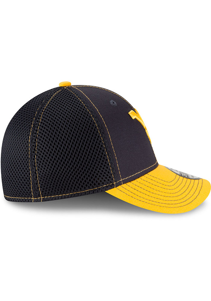 New Era West Virginia Mountaineers Mens Navy Blue 2T Neo 39THIRTY Flex Hat - Image 6