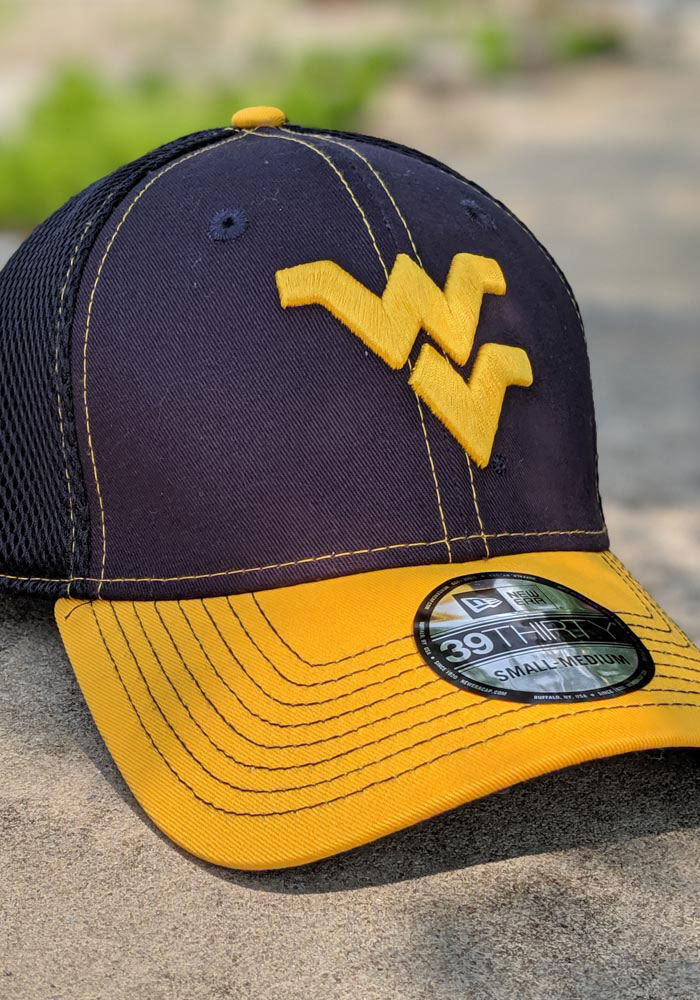 New Era West Virginia Mountaineers Mens Navy Blue 2T Neo 39THIRTY Flex Hat - Image 7