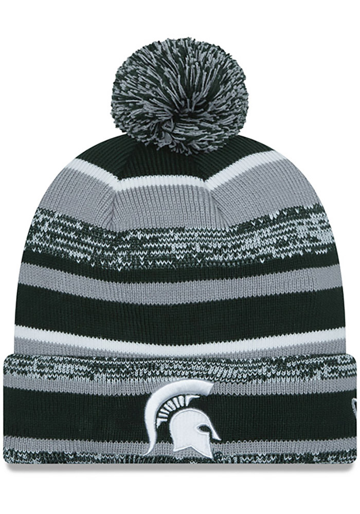New Era Michigan State Spartans Green Sport Mens Knit Hat - Image 1