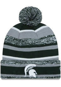 new style 651c3 08717 New Era Michigan State Spartans Green Sport Knit Hat