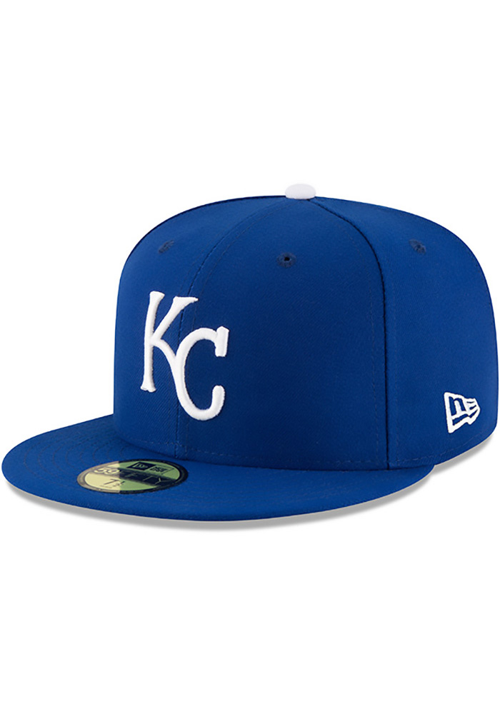 New Era Kansas City Royals Mens Blue 50th Anniversary Game AC 59FIFTY Fitted Hat - Image 2