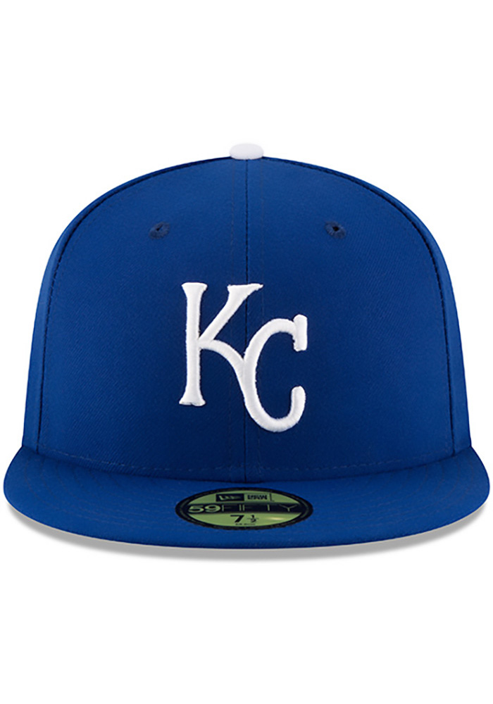 New Era Kansas City Royals Mens Blue 50th Anniversary Game AC 59FIFTY Fitted Hat - Image 3