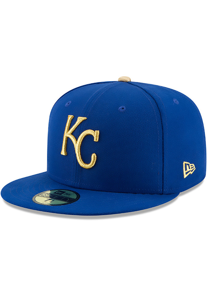 New Era Kansas City Royals Mens Blue 50th Anniversary Alt AC 59FIFTY Fitted Hat - Image 2