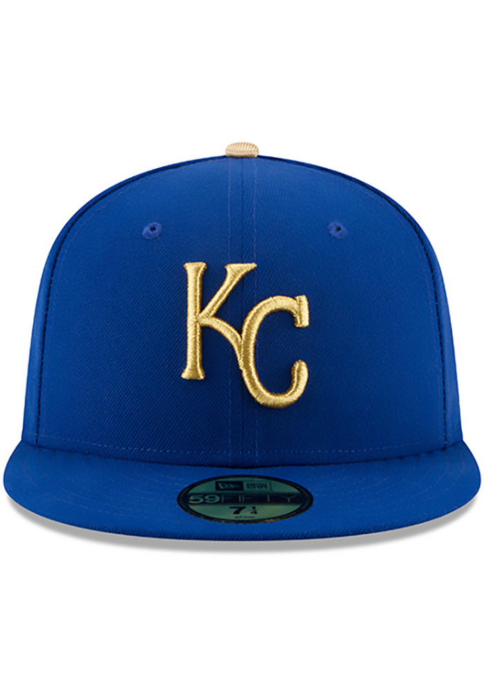 New Era Kansas City Royals Mens Blue 50th Anniversary Alt AC 59FIFTY Fitted Hat - Image 3