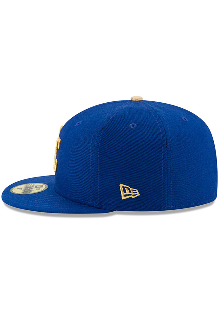 New Era Kansas City Royals Mens Blue 50th Anniversary Alt AC 59FIFTY Fitted Hat - Image 4