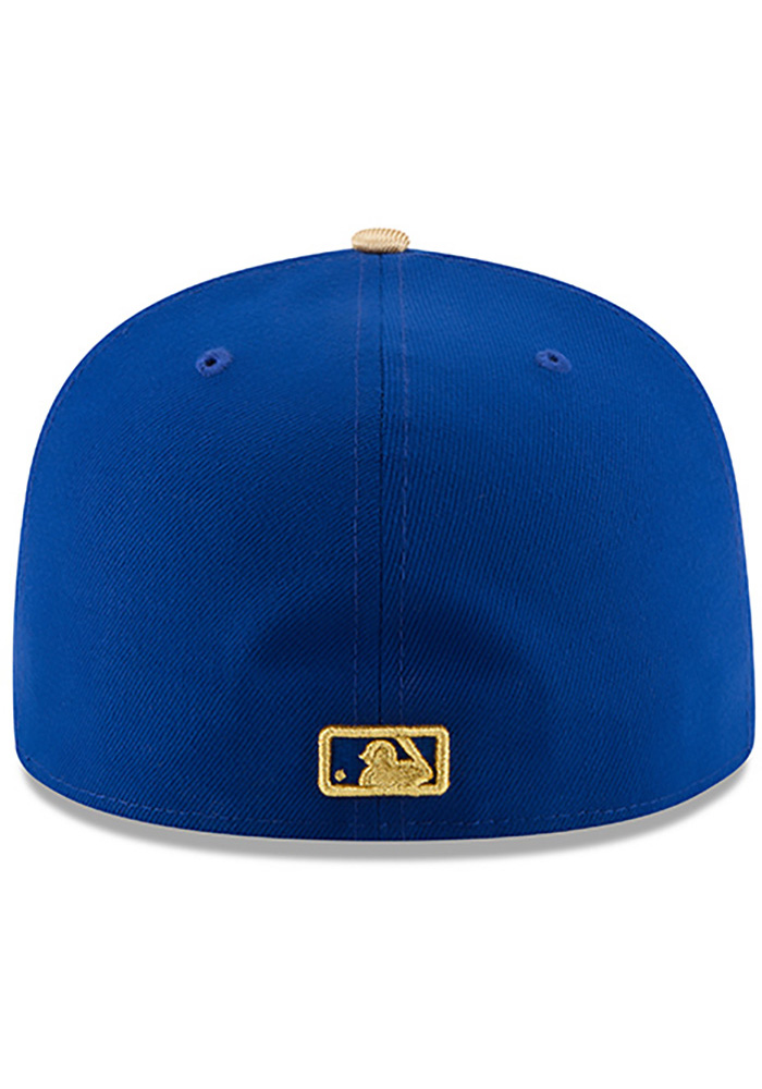 New Era Kansas City Royals Mens Blue 50th Anniversary Alt AC 59FIFTY Fitted Hat - Image 5