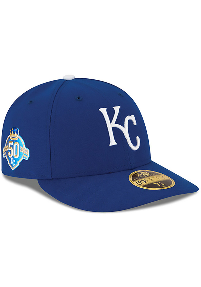 New Era Kansas City Royals Mens Blue 50th Anniversary Game AC LP59FIFTY Fitted Hat - Image 1