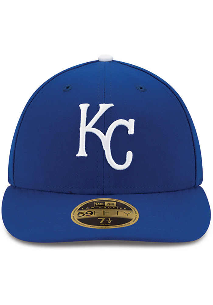 New Era Kansas City Royals Mens Blue 50th Anniversary Game AC LP59FIFTY Fitted Hat - Image 3