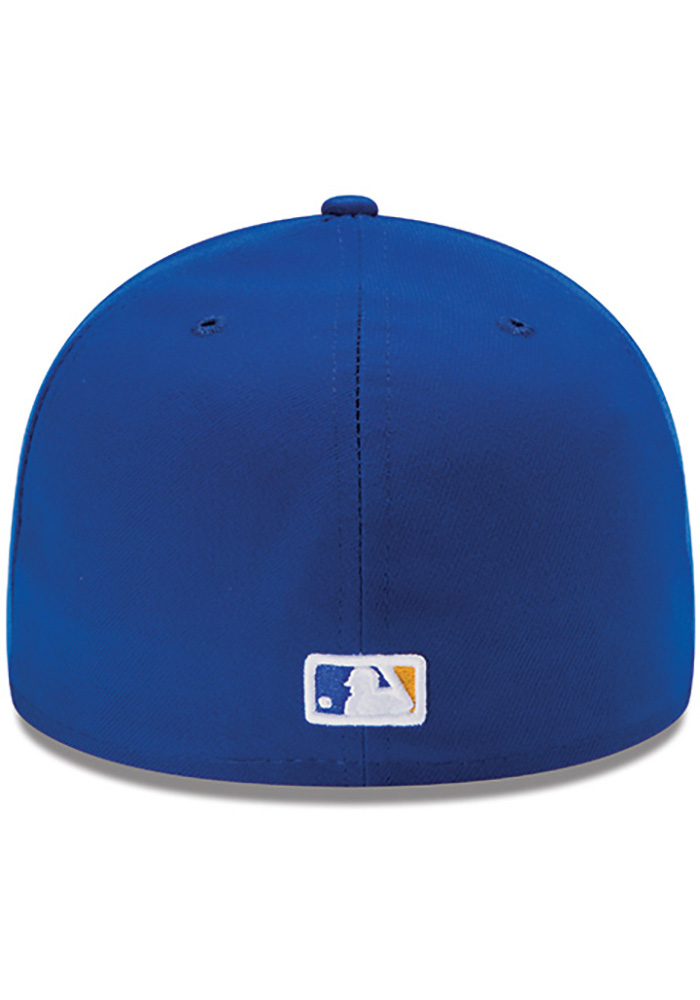New Era Kansas City Royals Mens Blue 50th Anniversary Game AC LP59FIFTY Fitted Hat - Image 4