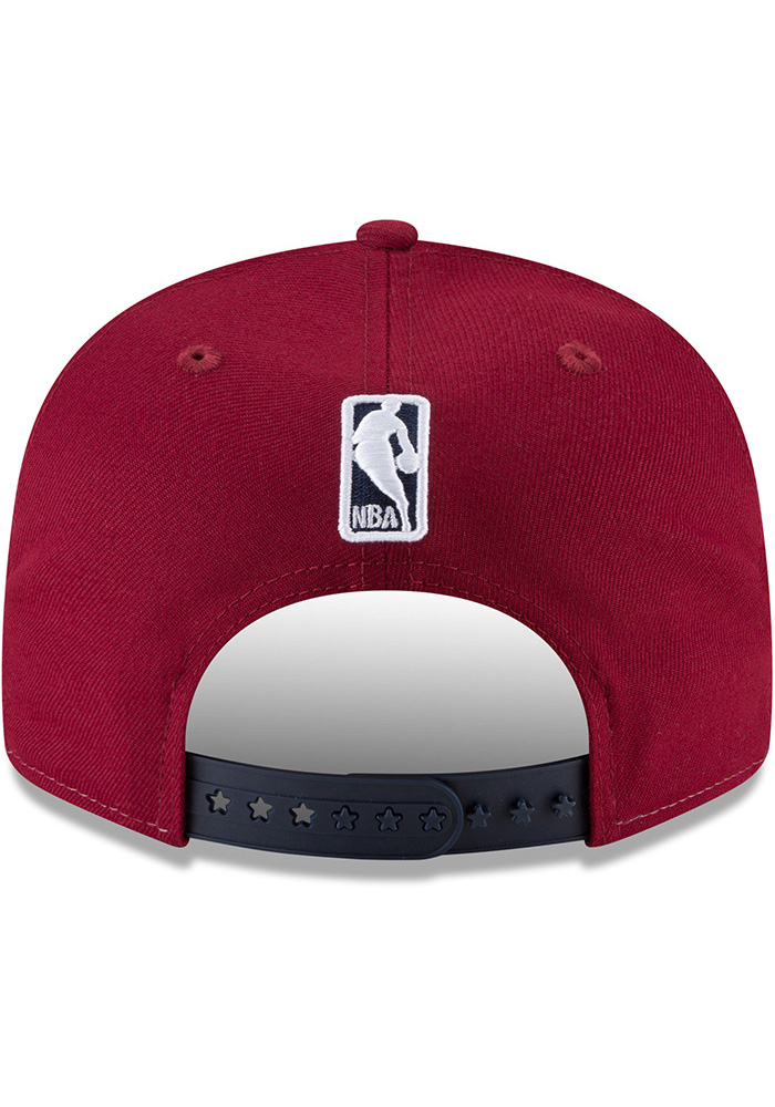 New Era Cleveland Cavaliers White Team Retro Wheel 9FIFTY Mens Snapback Hat - Image 5