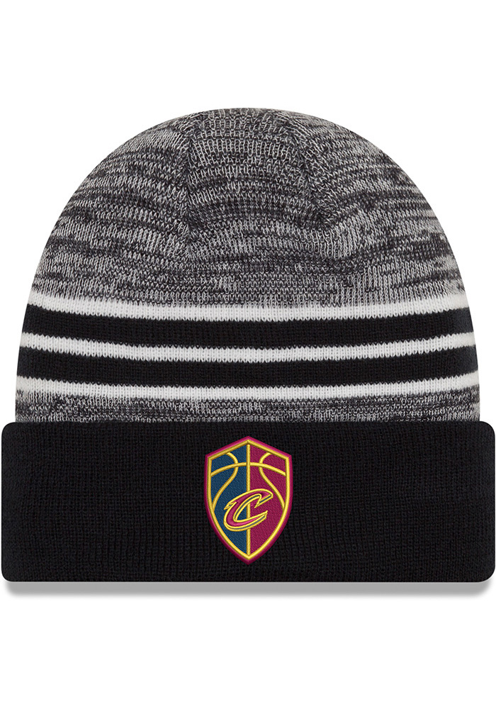 New Era Cleveland Cavaliers Navy Blue Marled Cuff Mens Knit Hat - Image 1