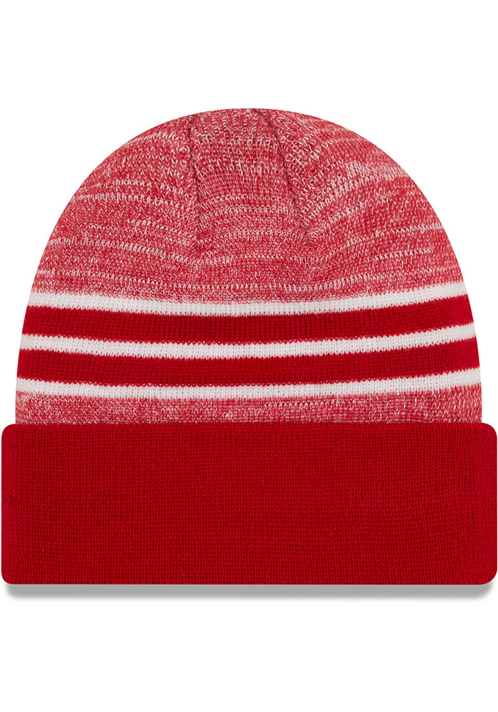 New Era Philadelphia 76ers Red Marled Cuff Mens Knit Hat - Image 2