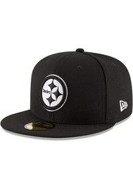 Pittsburgh Steelers New Era Black Basic 59FIFTY Fitted Hat