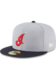 Cleveland Indians New Era 2002 Cooperstown Wool 59FIFTY Fitted Hat - Grey