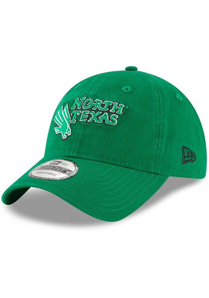 New Era North Texas Mean Green Core Classic 9TWENTY Adjustable Hat - Green - Image 1