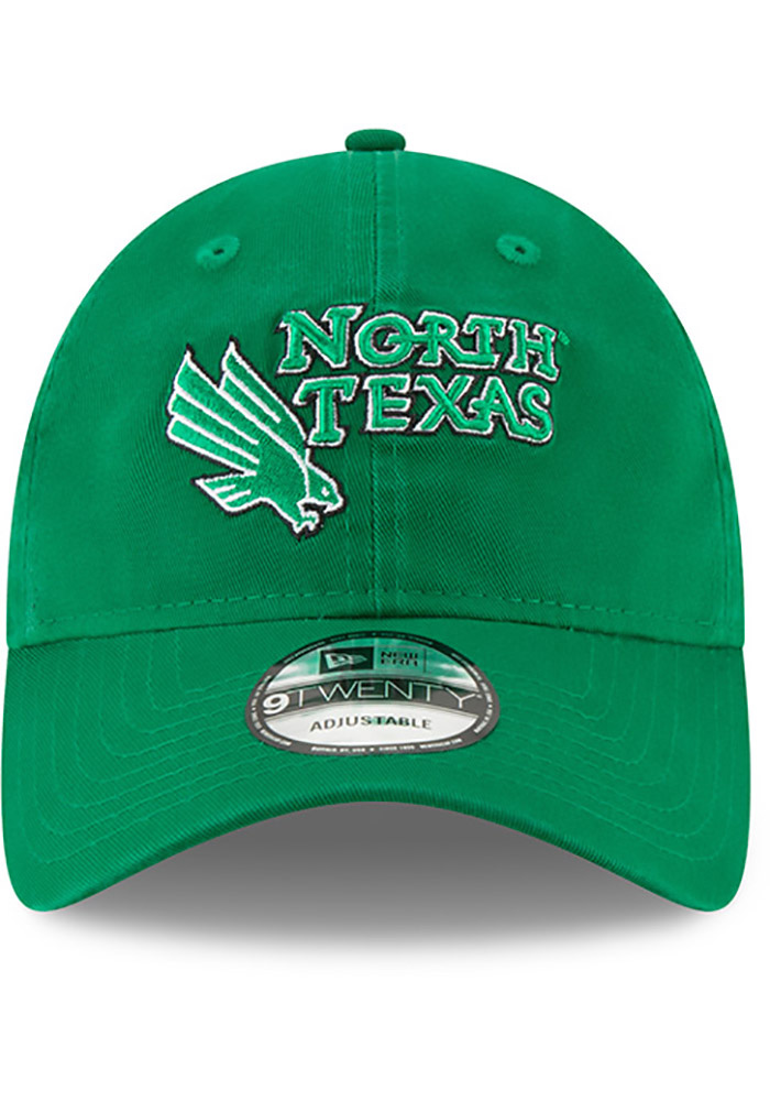 New Era North Texas Mean Green Core Classic 9TWENTY Adjustable Hat - Green - Image 3