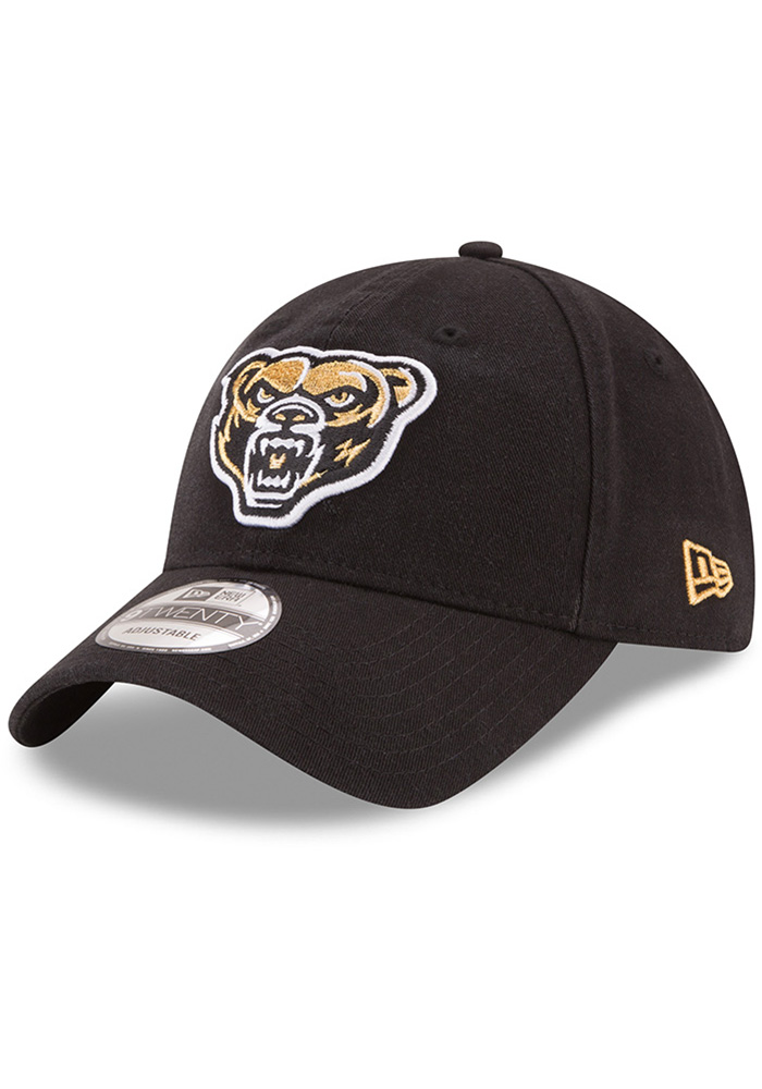 e27a364a3be New Era Oakland University Golden Grizzlies Black Core Classic 9TWENTY  Adjustable Hat